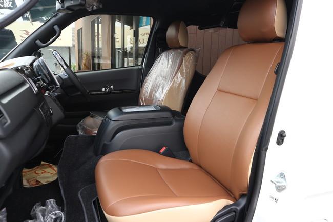 新たにカジュアルパッケージとしてフロントシートも同デザインで張替えが可能に